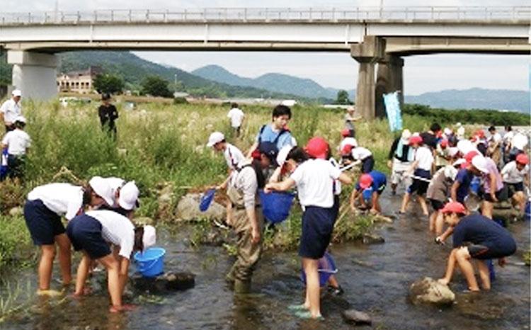 保全生態学研究室では、子どもが親しめる川づくりについての研究を行っています。