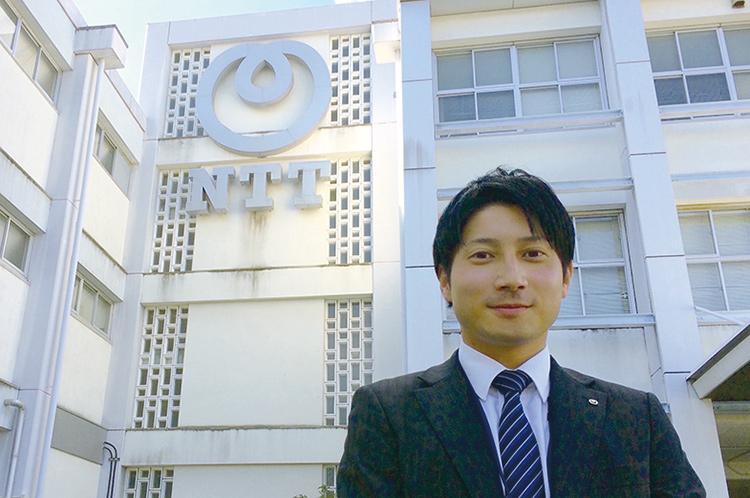 西日本電信電話株式会社 勤務 電子情報工学専攻 電気電子工学コース 修了 三原 高徳さん(平成26年度修了)
